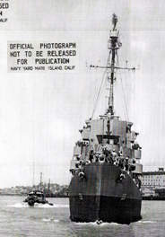 USS William C. Miller DE259 Bow on